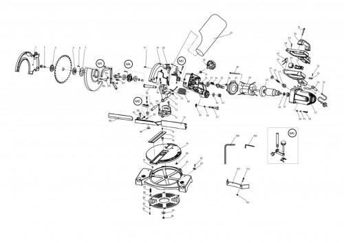 210 mm Evolution FURY3-B Multi-Purpose Compound Mitre Saw 230V